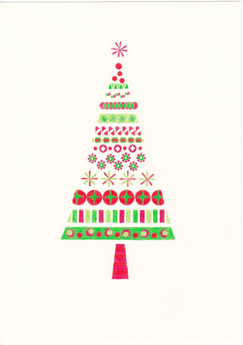 beltaのcolored pencil gallery 色鉛筆ギャラリー christmas tree