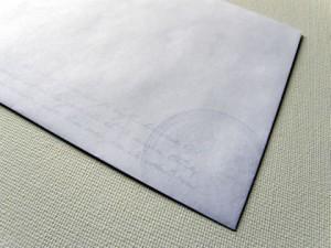 白い紙だと透かし模様