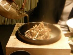 九条ねぎと鴨の石焼き茶漬け