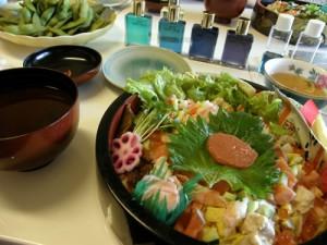 お昼ご飯のお寿司