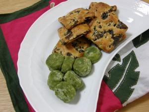 お抹茶のクッキー