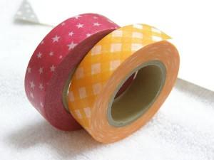 キャンディカラーのマスキングテープ