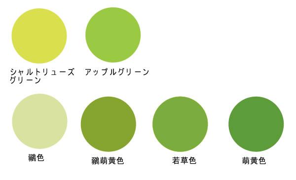 もの 緑 おり 黄