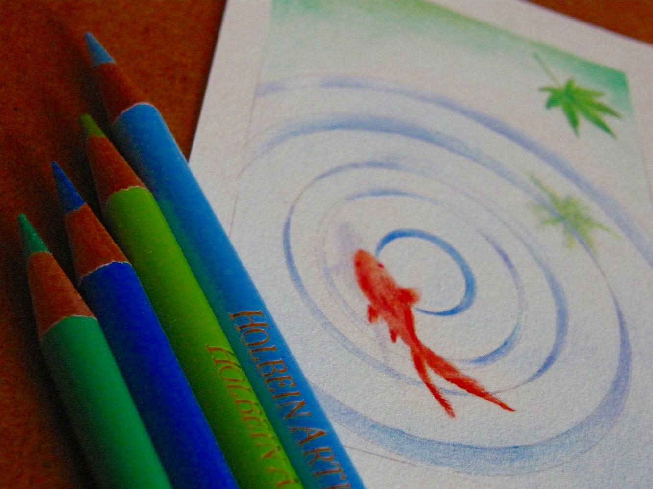 金魚と水紋