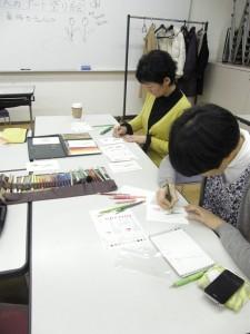 塗り絵 池本先生と加代子さん