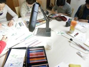 塗り絵 集中されています。