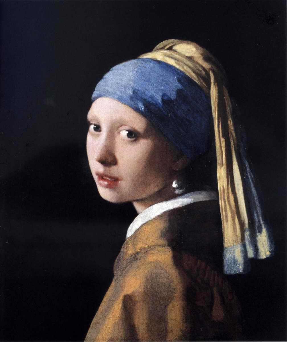 青いターバンの少女