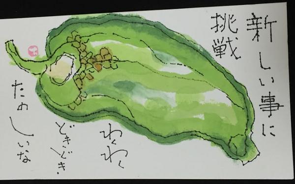 福間さまの絵手紙